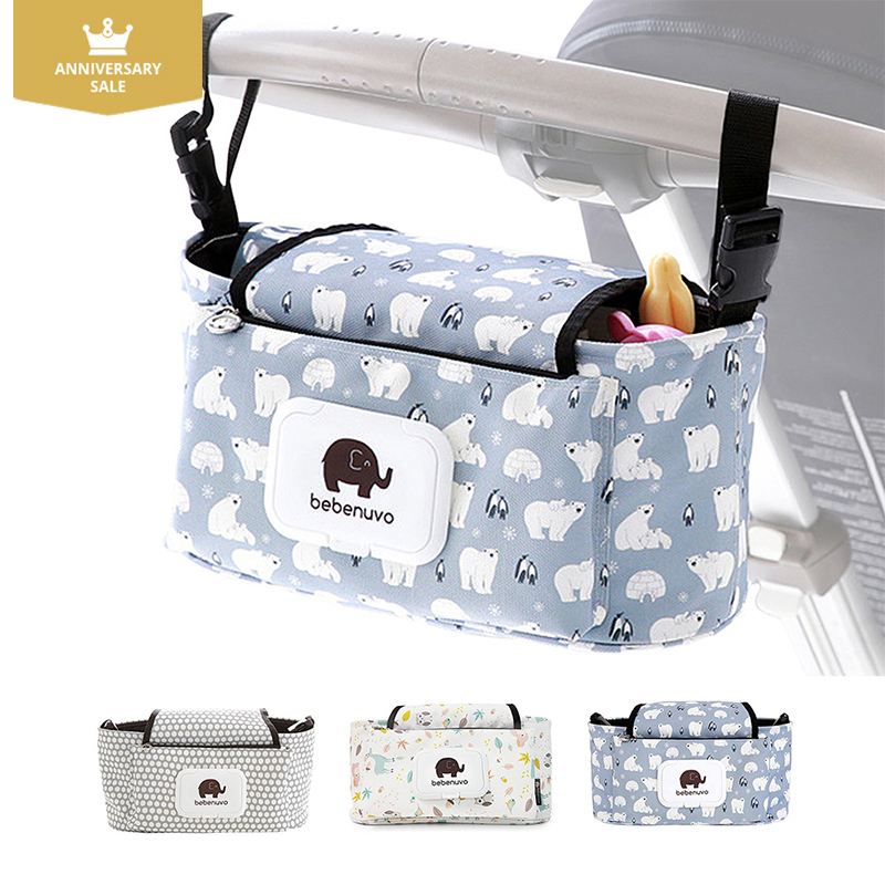 KIDSRUN Baby Stroller Bag Diaper bag Universal Cup bag Mummy Bag Baby Carriage Pram Baby Cup Holder