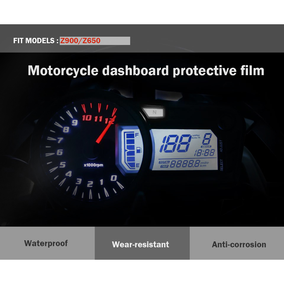 Moto Tachometer Lens Instrument Prot Sticker Speedometer Film Screen Protector Stickers For Kawasaki Z900 Z650 Z 900 650 In Covers Ornamental Mouldings