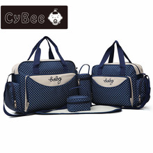 CyBee new ashion multi function large capacity mummy bag five sets out from hand the bill of lading shoulder mother package