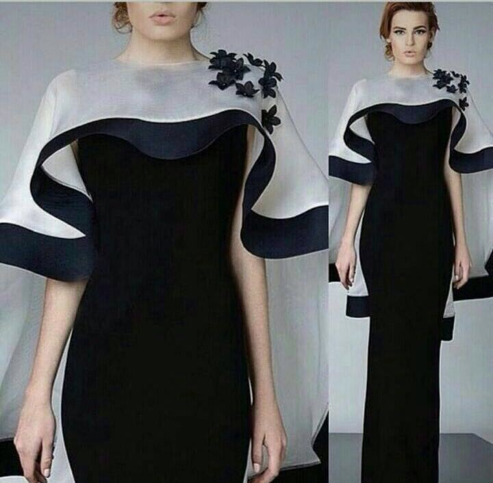 Evening High Neck Short Sleeves Ruched Tea Length Formal Gowns Online Vestidos De Festa Real Photos mother of the bride dresses