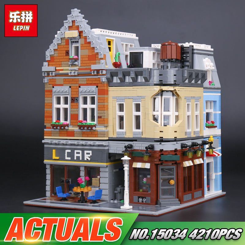 Lepin 15034 4210Pcs Genuine MOC Series The New Building City Set Building Blocks Bricks Educational Toys Model As Boy`s Gifts lepin 02112 new city series the arctic supply plane set 60196 building blocks bricks legoinglys toys model boy christmas gifts