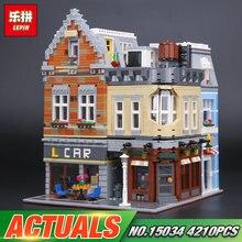 MOC Lepin 15034 4210 Unids Genuino Serie El Nuevo Conjunto de Bloques de Construcción Ladrillos de Juguetes Educativos Modelo de Construcción de la Ciudad Como Boy de Regalos