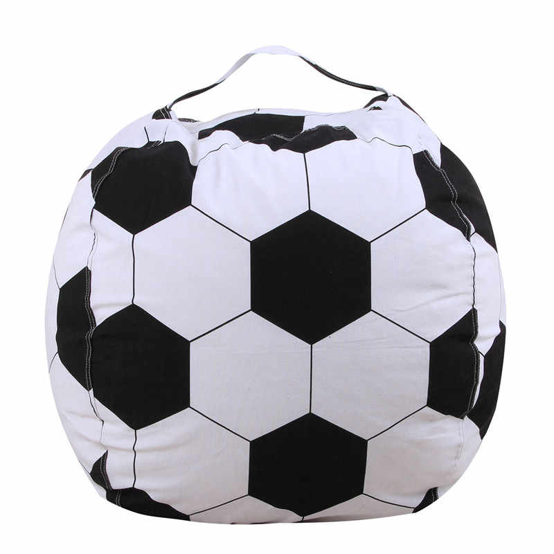 Hot New 300cm Football color Modern Storage Stuffed Animal Storage Bean Bag Chair Portable Kids Clothes Toy Storage Bags
