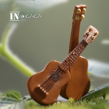 Small mini Guitar home Decor artificial Musical Instruments ornaments Toys DIY doll house/miniature garden accessories figurines
