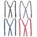 Mens LARGE SIZE Suspenders Adults Skinny Slim Suspenders Clip-on X-Back BLACK Braces Elastic Suspenders 1.5X120CM