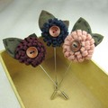 Felt flowers men stick pin  lapel pin  brooch pins 20pcs/lot  6color for your choice Fashion Classic Assorted Free shipping