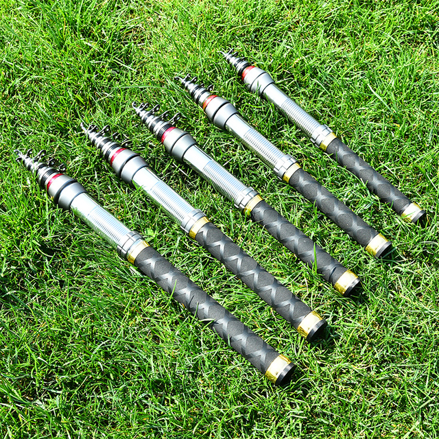 High quality 99% carbon fiber 1.3m-2.4M high performance portable outdoor rotating mini fly telescopic fishing rod free shiping