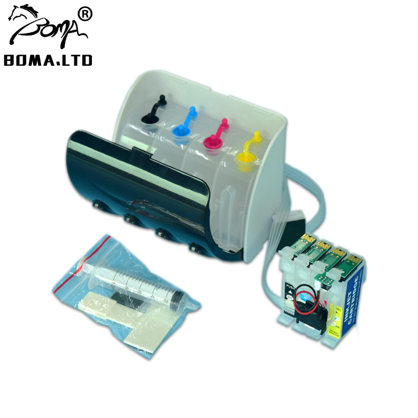 502 502XL WF 2860 XP 5100 2865DWF <font><b>Bulk</b></font> Contact Ink Supply System With Reset ARC Chip For EPSON Workfore Pro WF 2860DWF XP 5105 image