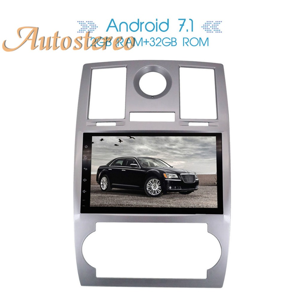 Vehicle Stereo Gps Navigation For Chrysler 300c Jeep Dodge: Autostereo Android7 Car GPS Navigation Multimedia For