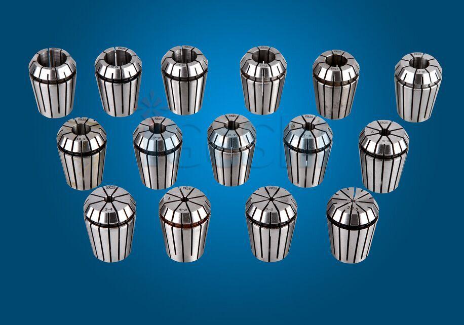 new ER25 collet set 15pcs 2 16mm CNC collet chuck toolholder