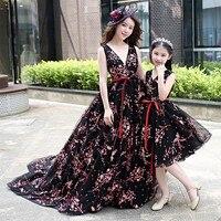 Mother Daughter Wedding Dress Maxi Long Vestidos Mom and Daughter Dress High end Customize Wedding Dress Ball Gown Family Look