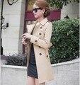 2016 moda europeus e americanos novo casaco de inverno de mulheres de Slim tamanho grande casaco corta-vento