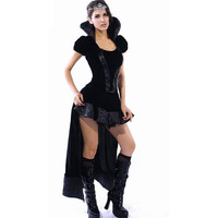 Halloween Cosplay Adult Sexy Puff Sleeves Wicked Queen Costumes For Women 2017 Role Play Fantasia Sexual