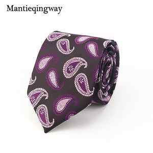 Mantieqingway Business Formal Silk Printed Ties For Men Floral Jacquard Suits Accessories Necktie Plaid Gravata Vestidos Cravat