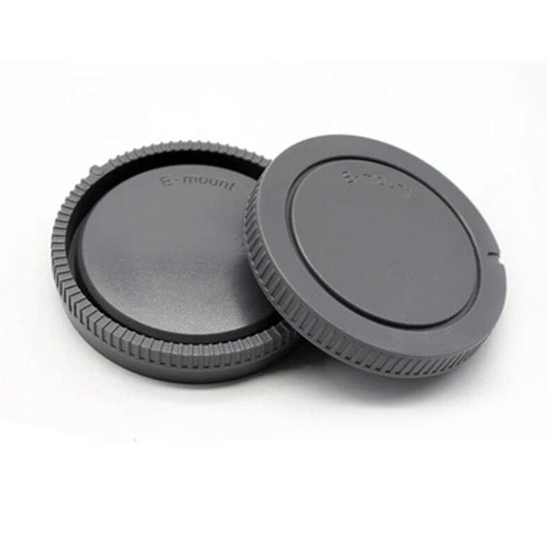 50 paires/lot capuchon de corps de caméra + capuchon d'objectif arrière pour pour NEX NEX 3 e mount-in Cache objectif from Electronique    1