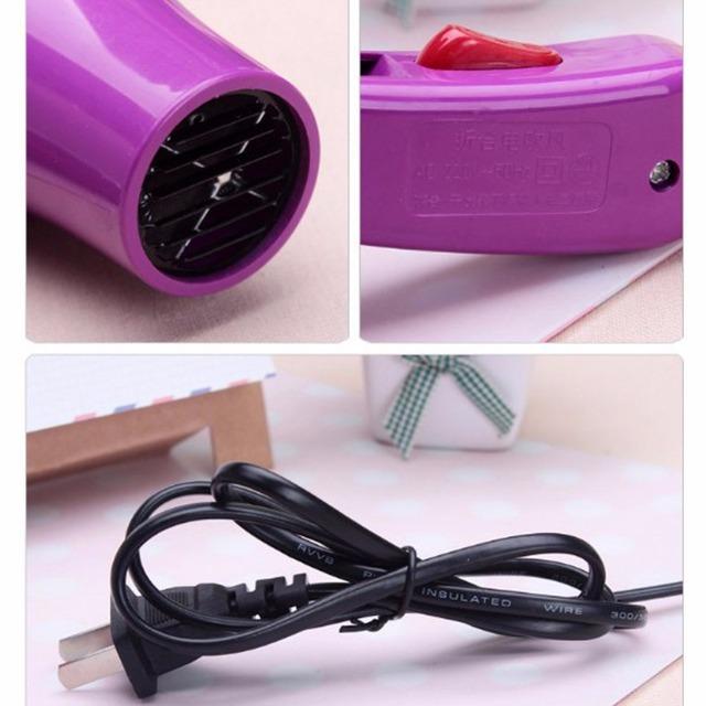 220V Portable Mini Hair Blow Dryer 850W Traveller Hair Dryer Blower Foldable US Plug