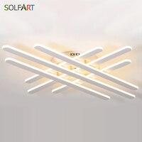 LED Ceiling Lights SOLFART Avize Dimming Luminaria Lamp For Living Room Plafonnier Modern Lighting Fixtures