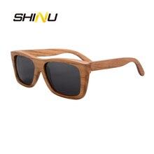 25bda321981 SHINU Wood Sunglasses UV400 Men Polarized Driving Eyewear Goggle