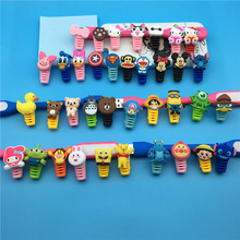 100pcs cartoon figure USB Data Cable Line Protector Anti Breaking Protective Sleeve For Charging Earphone free ship