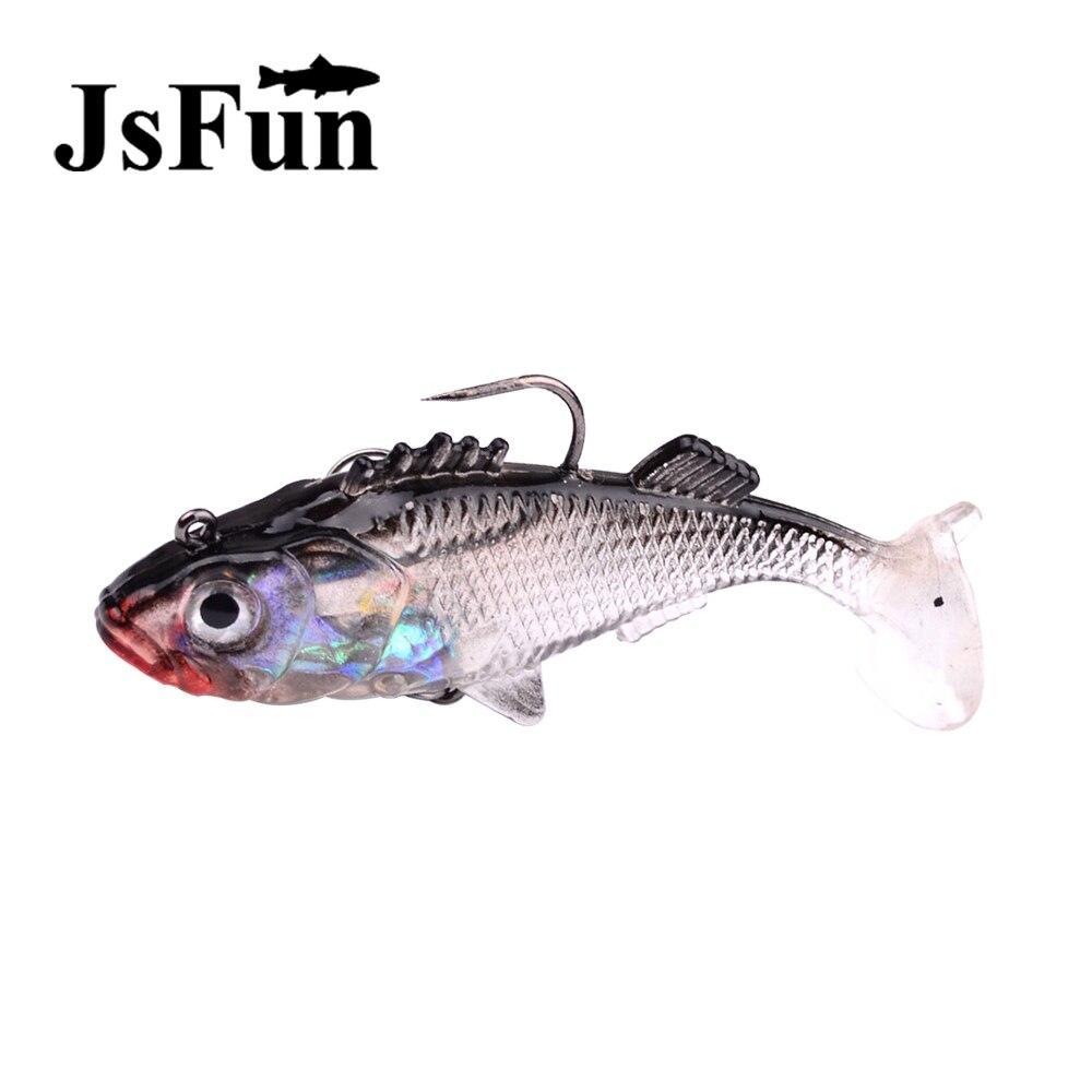 JSFUN Paillette Fishing Lure 7.6cm 15.7g Artificial Soft bait Carp Crankbait with Treble Hooks Fishing Tackle accessories FU303
