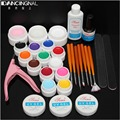 12 Color UV Gel Painting Brush Sanding Files Cleanser Plus Nail Pliers Topcoat Builder Manicure Tools Beauty Nails Glue Kit Set