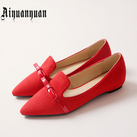 Pointed Toe Plus Size 41 42 43 44 45 46 47 48 Hot Sale Women Flats