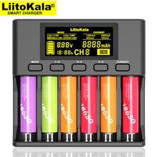 LiitoKala Lii S6 baterii ładowarka 18650 ładowarka 6 Slot automatyczna polaryzacja wykrywania dla 18650 26650 21700 32650 baterie AA AAA
