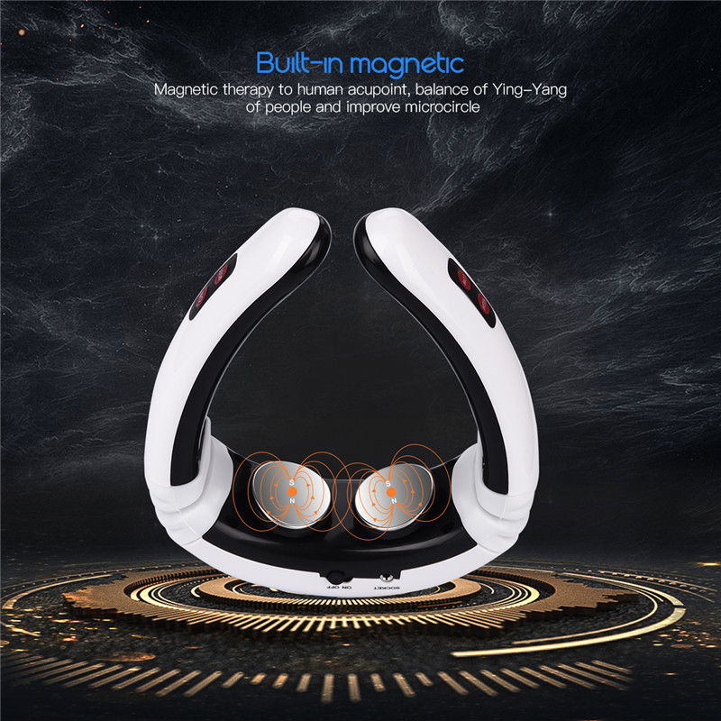 Electric Pulse Back And Neck Massager Far Infrared Heating Pain Relief Tool Health Care Relaxation DropShipping