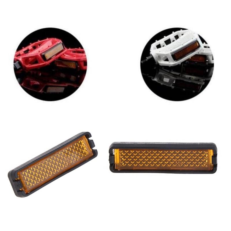 4pcs//set bicycle pedal reflector safety night cycling reflective bike accessoryH