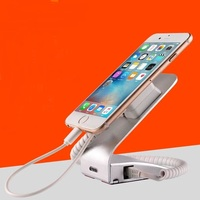 cell phone anti theft sticker magnetic pull box cable alarm sensor charging security display holder stand