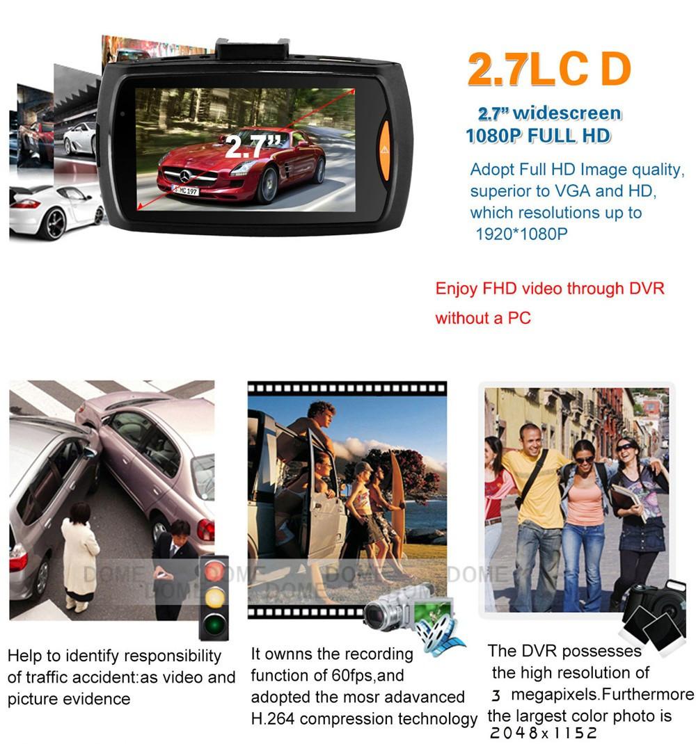QUIDUX Dual lens G30 Car DVR Camera HD 1080P Video Recorder DVRs Night Vision Auto Dash cam Veicular Kamera two cameras Logger 8