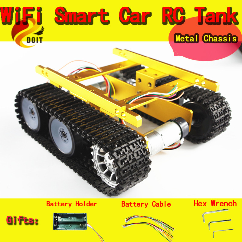 все цены на DOIT Tank Caterpillar Tractor Chassis Crawler Intelligent Robot Car Obstacle Avoidance Barrowload Wall-e Infrared онлайн