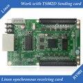 LINSN RV901 Full Color display LED Recebe O cartão de trabalho com Linsn ts802d cartão
