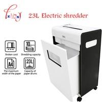 Electric Paper shredder Mute file grinder Destroy Document Files 23L large household o-ffice file paper shredder 3*15mm