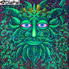 DiaPai Diamond Painting 5D DIY 100% Full Square/Round Drill Cartoon tree man Embroidery Cross Stitch 3D Decor A18870