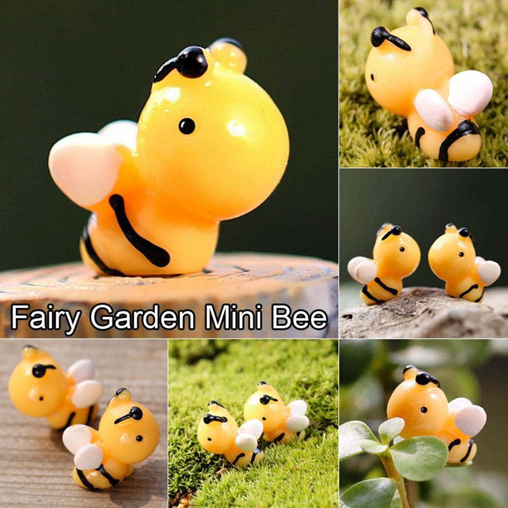 6Pcs Cute Miniature Bees Micro Landscape Ornaments Decor For DIY Fairy Garden