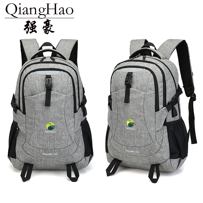 QiangHao 17 Laptop Backpack External USB Charge Computer Backpacks Anti-theft Waterproof Bags for Men Women
