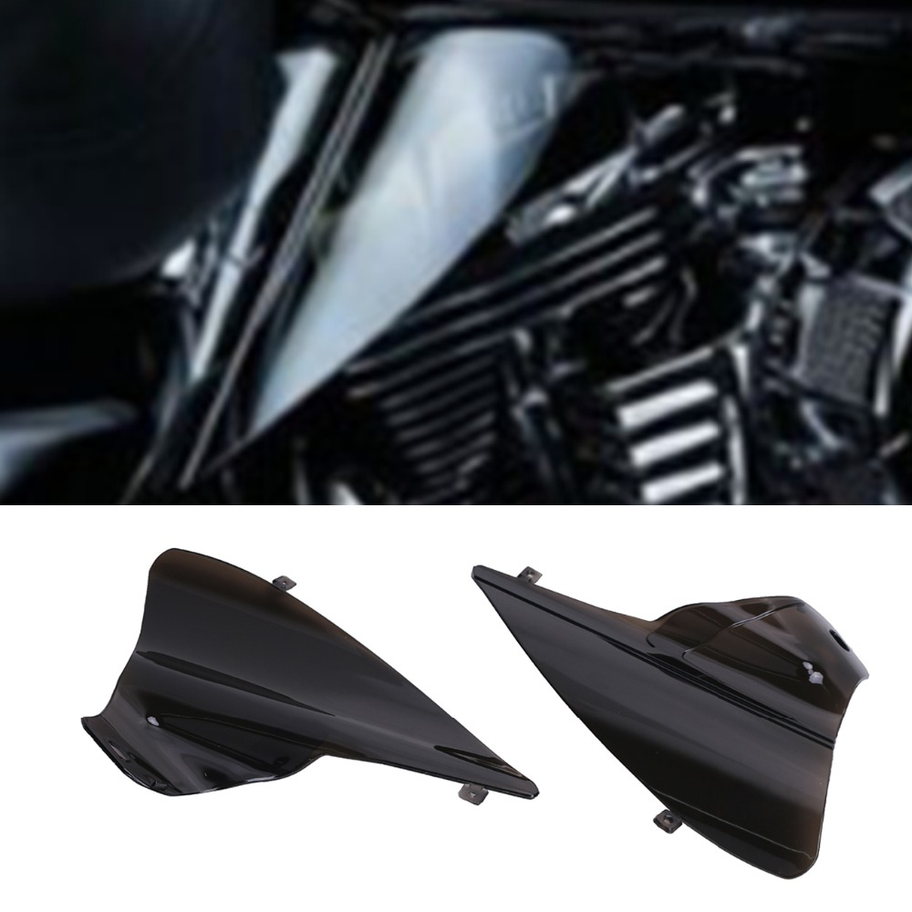 Motorcycle Smoke Saddle Shield Heat Deflector For Harley Davidson Touring Road Electra Glide 2009 - 2015 Street Tri Glide C/1 areyourshop windshield bag saddle 3 pouch pocket fairing for harley touring bike 1996 2015 black motorcycle covers