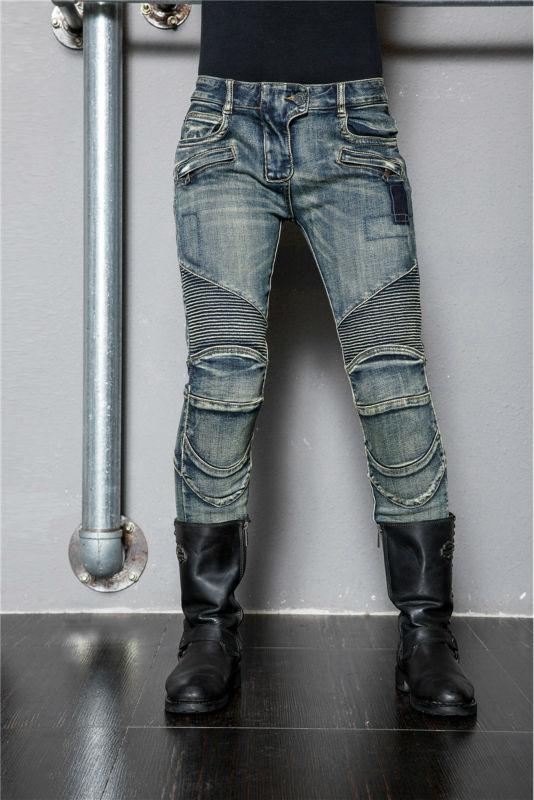 новая мода личности uglybros мотоцикл / двигатель дорожной джинсы / джинсы, леди предупреждения падений