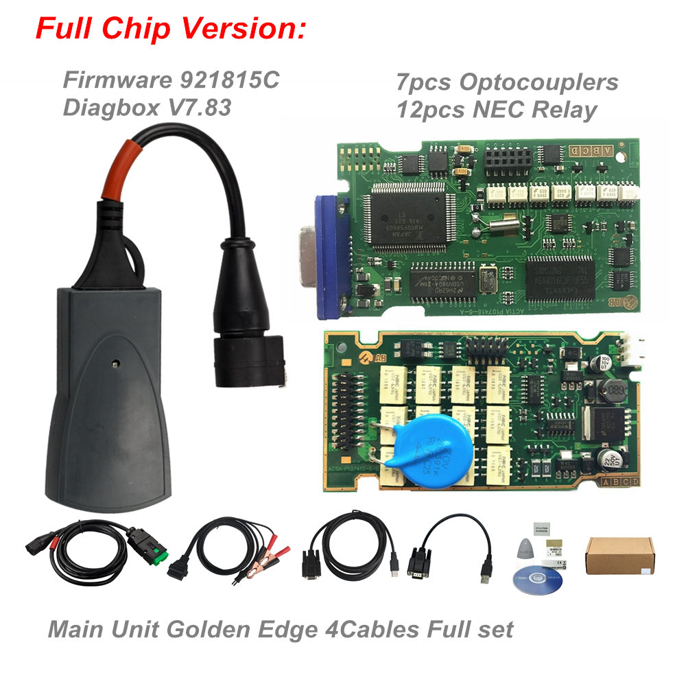 Full Chips Gold Edge Lexia3 PP2000 PSA XS Evolution Diagbox V7.83 Lexia For Citroen/Peugeot Super Firmware 921815C Lexia 3