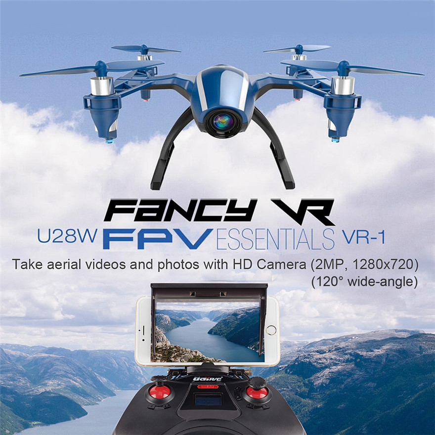 High Quqlity UDI U28W Wifi FPV Drone 2.4G 4CH Headless RC Quadcopter with 720P HD Camera RTF Gift For Children Free Shipping  high quqlity jjrc v686 5 8g fpv headless mode rc quadcopter with hd camera monitor gift for children toys wholesale