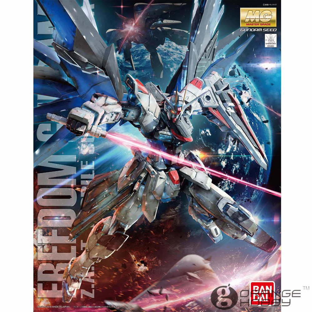 OHS Bandai MG 192 1/100 ZGMF-X10A Freedom Gundam Ver.2.0 Mobile Suit Assembly Model Kits ohs bandai mg 185 1 100 ppgn 001 gundam exia dark matter mobile suit assembly model kits