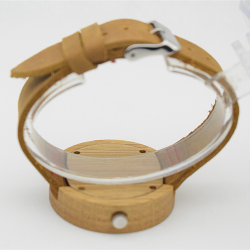 100 Genuine Leather Bamboo Wooden Brand Fashion Wooden Man 39 s Watches With High Janpese 2035 MIYOTA Movement Wistwatches in Women 39 s Watches from Watches