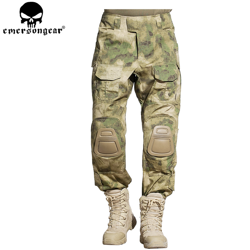 Emersongear G3 tactical pants/Leisure trousers A-TACS/FG Jungle camouflage +EMERSON G3 Combat Knee PadsGhillie Suits tacs soap ts1005b