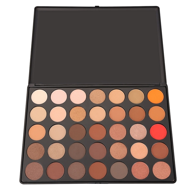 Professional 35 Color Smoke Makeup Eyeshadow Palette Warm Silk Smooth Texture Light Matte Eye Shadow Cosmetic Make Up Tool