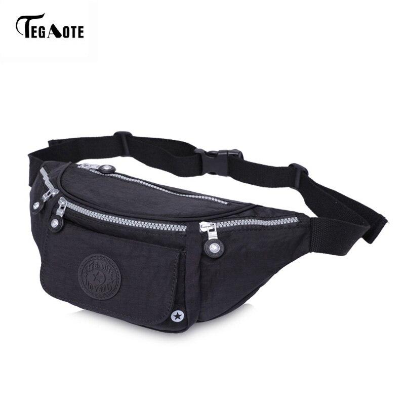 TEGAOTE Men's Waist Bag Casual Multifunction Money Belt Bag Travel Fanny Packs Waist Bag Phone Belt Bags Waterproof Women