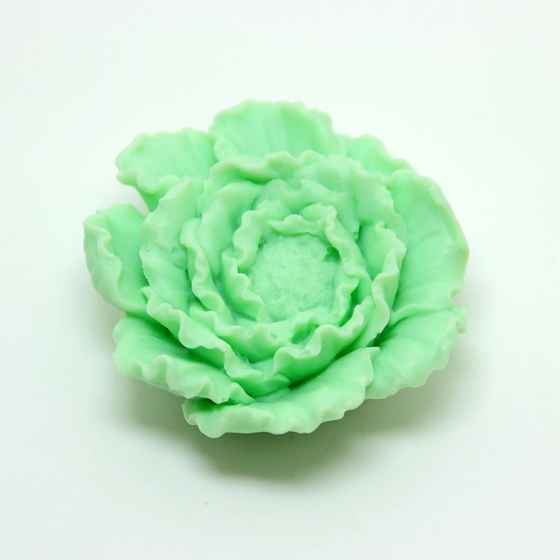 Stereo handmade soap mould DIY 3D Peony flower silicone soft Mold making mold