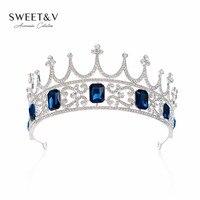 GÜMRÜKLEME SATıŞ Mücevherli Kraliçe Taç Rhinestone Tiara Gelin Headpieces-Kadınlar için Saç Aksesuarları Düğün Pageant Balo Parti