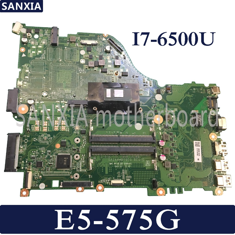 KEFU DAZAAMB16E0 Laptop motherboard for font b Acer b font Aspire E5 575G original mainboard I7