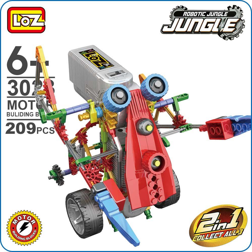 LOZ ideas Motor Building Block Combined Robot Jungle Machine Monkey Model Toys DIY Toy kids ABS Bricks Dolls Christmas Gift 3023 цены онлайн